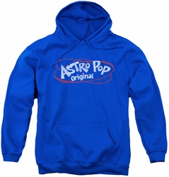 Astro Pop youth teen hoodie Vintage Logo royal blue