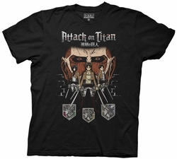 Attack on Titan In Shadows mens t-shirt pre-order