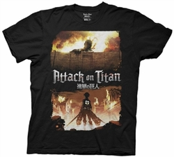Attack on Titan Keyart mens t-shirt