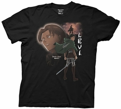 Attack on Titan Levi Portrait mens t-shirt