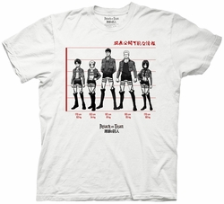 Attack on Titan Lineup mens t-shirt pre-order