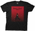 Attack on Titan Silhouette on Red Gradient mens t-shirt