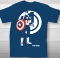 Avengers t-shirt Captain America Minimal adult blue