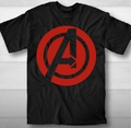 Avengers t-shirt Logo Plain adult black