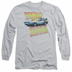 Back To The Future adult long-sleeved shirt 88 MPH silver