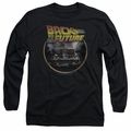 Back To The Future adult long-sleeved shirt Back black