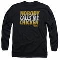 Back To The Future adult long-sleeved shirt Chicken black