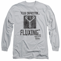 Back To The Future adult long-sleeved shirt Fluxing silver