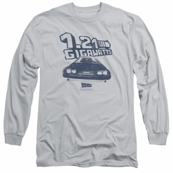 Back To The Future adult long-sleeved shirt Gigawatts silver