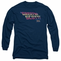 Back To The Future adult long-sleeved shirt Great Scott navy