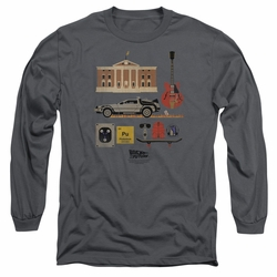 Back To The Future adult long-sleeved shirt Items charcoal