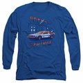 Back To The Future adult long-sleeved shirt Ligtning Strikes royal
