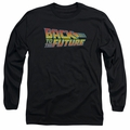 Back To The Future adult long-sleeved shirt Logo black