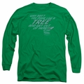 Back To The Future adult long-sleeved shirt Make Like A Tree kelly green