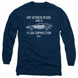Back To The Future adult long-sleeved shirt Other Ride navy
