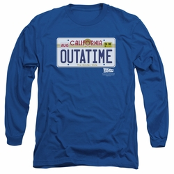 Back To The Future adult long-sleeved shirt Outatime Plate royal