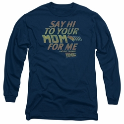 Back To The Future adult long-sleeved shirt Say Hi navy