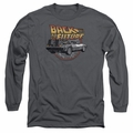 Back To The Future adult long-sleeved shirt Time Machine charcoal