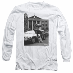 Back To The Future II adult long-sleeved shirt Einstein white