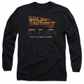 Back To The Future II adult long-sleeved shirt Future Is Here black