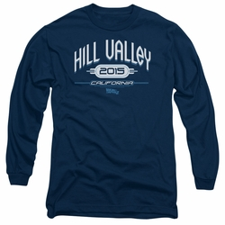 Back To The Future II adult long-sleeved shirt Hill Valley 2015 navy
