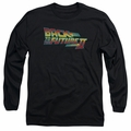 Back To The Future II adult long-sleeved shirt Logo black