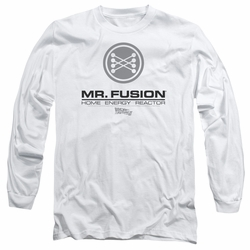 Back To The Future II adult long-sleeved shirt Mr. Fusion Logo white