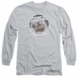 Back To The Future II adult long-sleeved shirt Synchronize Watches silver