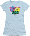 Back To The Future II juniors t-shirt Cafe 80's light blue