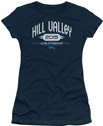 Back To The Future II juniors t-shirt Hill Valley 2015 navy