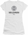 Back To The Future II juniors t-shirt Mr. Fusion Logo white