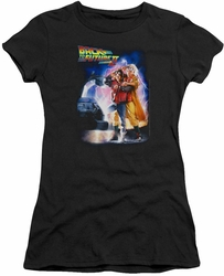 Back To The Future II juniors t-shirt Poster black