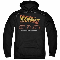 Back To The Future II pull-over hoodie Future Is Here adult black