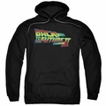 Back To The Future II pull-over hoodie Logo adult black