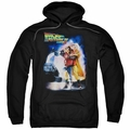 Back To The Future II pull-over hoodie Poster adult black