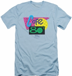 Back To The Future II slim-fit t-shirt Cafe 80's mens light blue