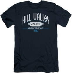 Back To The Future II slim-fit t-shirt Hill Valley 2015 mens navy