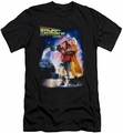 Back To The Future II slim-fit t-shirt Poster mens black