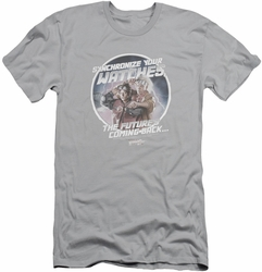 Back To The Future II slim-fit t-shirt Synchronize Watches mens silver
