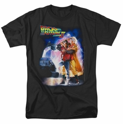 Back To The Future II t-shirt Poster mens black