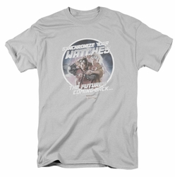 Back To The Future II t-shirt Synchronize Watches mens silver