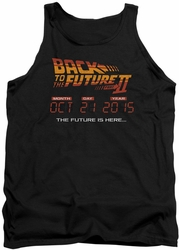 Back To The Future II tank top Future Is Here mens black