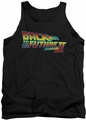 Back To The Future II tank top Logo mens black