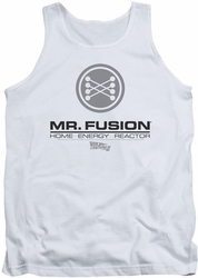 Back To The Future II tank top Mr. Fusion Logo mens white