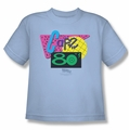 Back To The Future II youth teen t-shirt Cafe 80's light blue