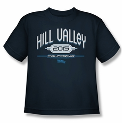 Back To The Future II youth teen t-shirt Hill Valley 2015 navy