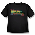 Back To The Future II youth teen t-shirt Logo black