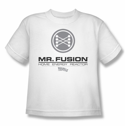 Back To The Future II youth teen t-shirt Mr. Fusion Logo white