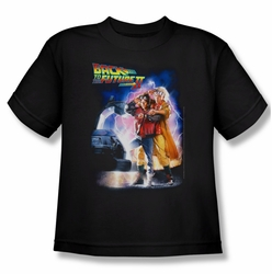Back To The Future II youth teen t-shirt Poster black