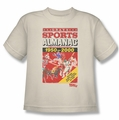 Back To The Future II youth teen t-shirt Sports Almanac cream